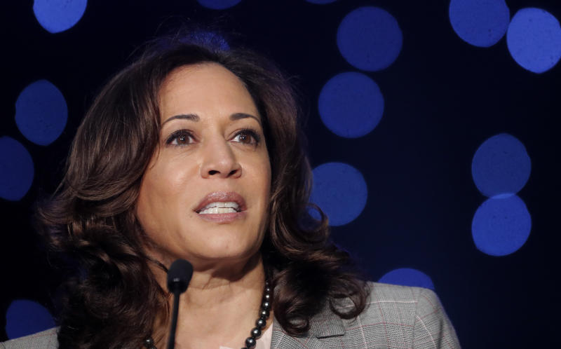 Sen. Kamala Harris (D-Calif.), a Democratic presidential candidate, said she supports a study of reparations for African Americans.