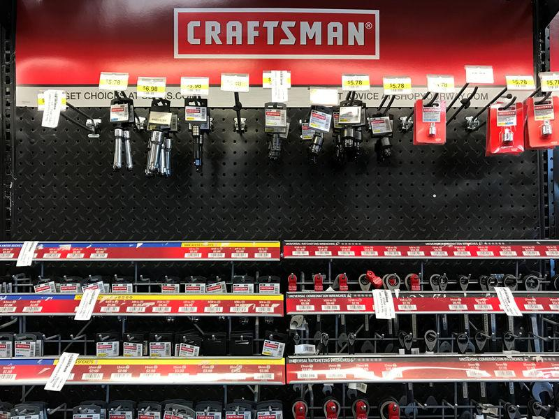 Craftsman brand products for sale at a Sears store in La Jolla, California