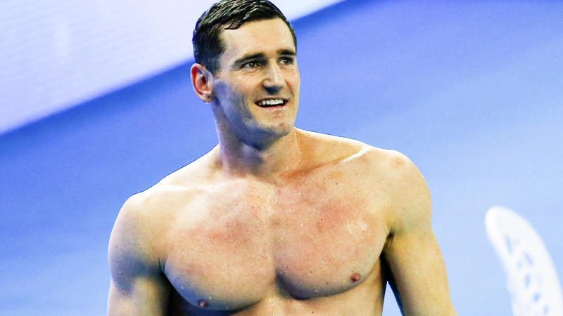Cameron Van Der Burgh, pictured here after winning the 50m breaststroke final at the world championships in 2018.