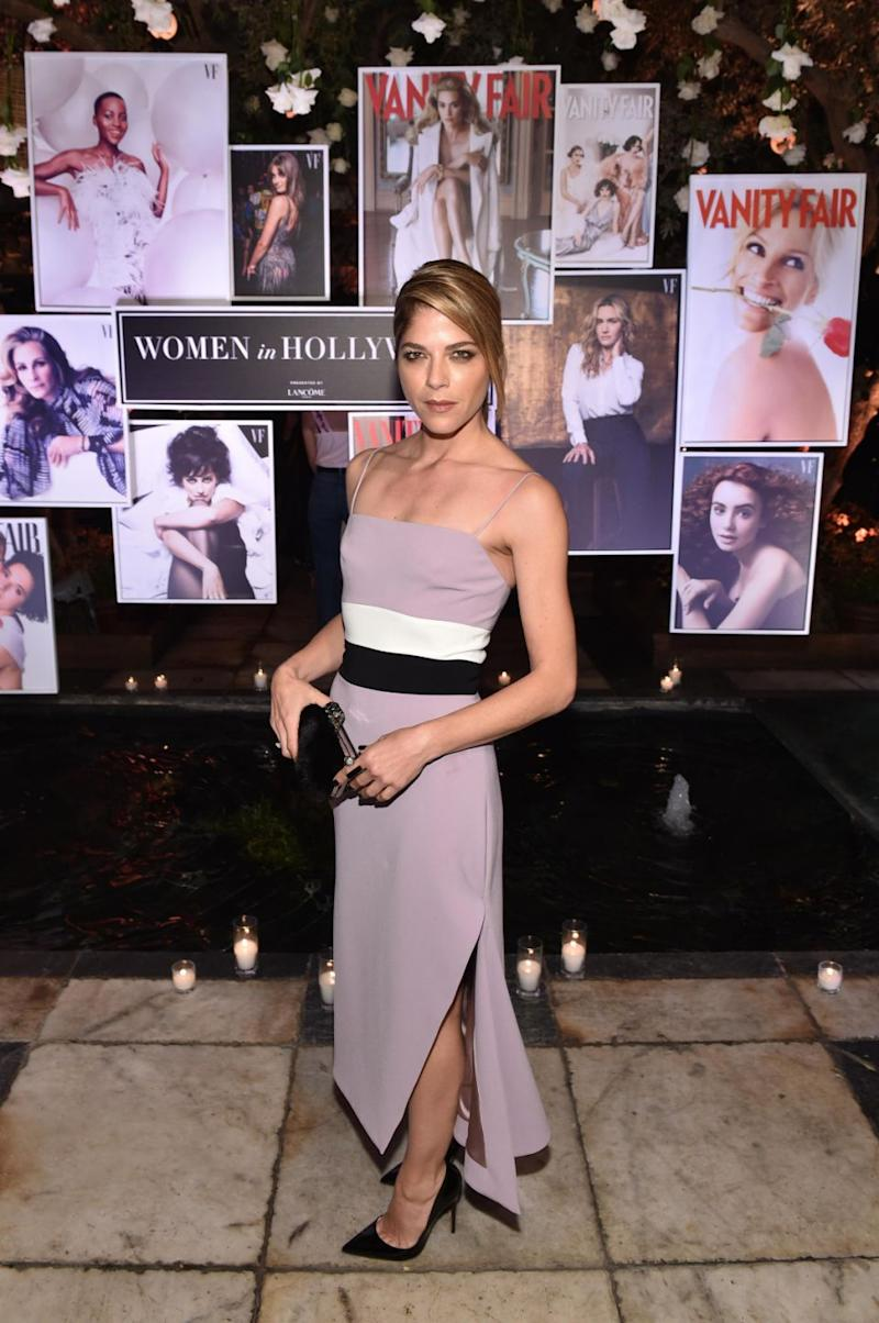Selma Blair at the Vanity Fair event where she made the bombshell. Source: Getty