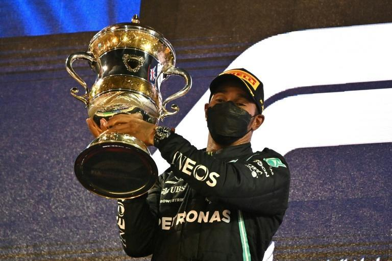 Hamilton held the lead and did not give Verstappen another chance as the pair provided a thrilling finale with the champion winning by seven-tenths of a second