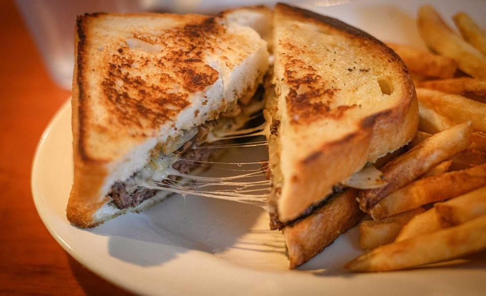 """<p><strong>Patty Melt</strong></p><p>While the Patty Melt was created in California, some of the best in class is in Nevada. After an intoxicating, all night out with no sleep in Sin City, sometimes a Patty Melt is exactly what you need. Ease your hangover at <a href=""""https://freddysusa.com/"""" rel=""""nofollow noopener"""" target=""""_blank"""" data-ylk=""""slk:Freddy's Frozen Custard & Steakburgers"""" class=""""link rapid-noclick-resp"""">Freddy's Frozen Custard & Steakburgers</a>. There's many variations and toppings from different types of cheese (we love muenster) to caramelized onions and tomatoes. </p>"""