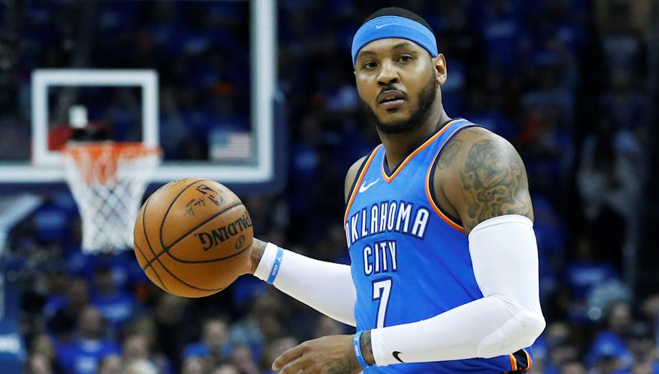 Carmelo Anthony will be playing for the Thunder next season. (AP)