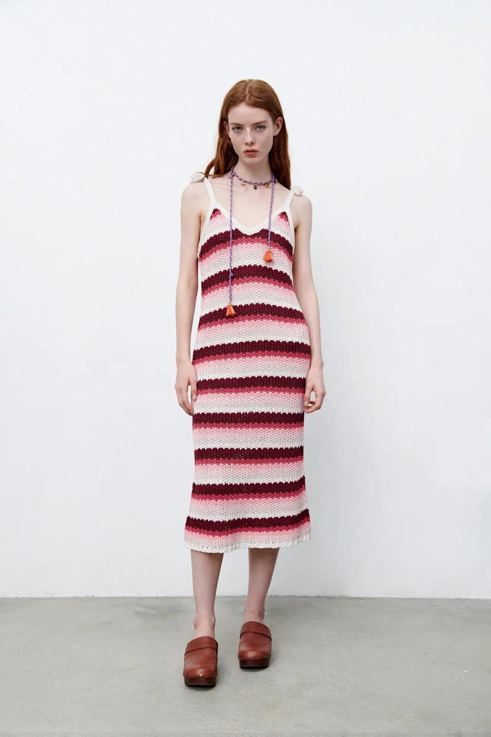 <p>There's something so artsy about this <span>Striped Knit Dress</span> ($70); it makes us think it'd be ideal for a day at the museum. Pair it with low kitten heels, and you'll be on your way.</p>