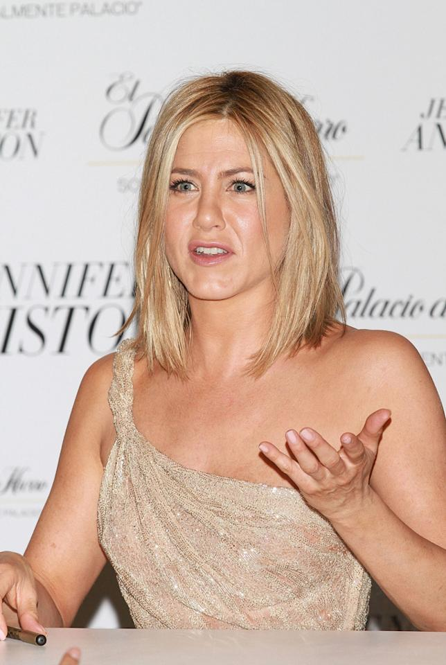 "According to <i>In Touch</i>, Jennifer Aniston recently went on the ""worst date ever."" The mag reports her blind date ""didn't even wait for Jen to show up before ordering,"" and when she did sit down, he ""kept on asking questions about Brad Pitt and Angelina Jolie."" Wait, it gets worse. When the bill came, the guy wanted to split the check. For the full details of Aniston's date-from-hell and how it surprisingly ended, log on to <a href=""http://www.gossipcop.com/jennifer-aniston-blind-date/"" target=""new"">Gossip Cop</a>. Victor Chavez/<a href=""http://www.wireimage.com"" target=""new"">WireImage.com</a> - March 10, 2011"