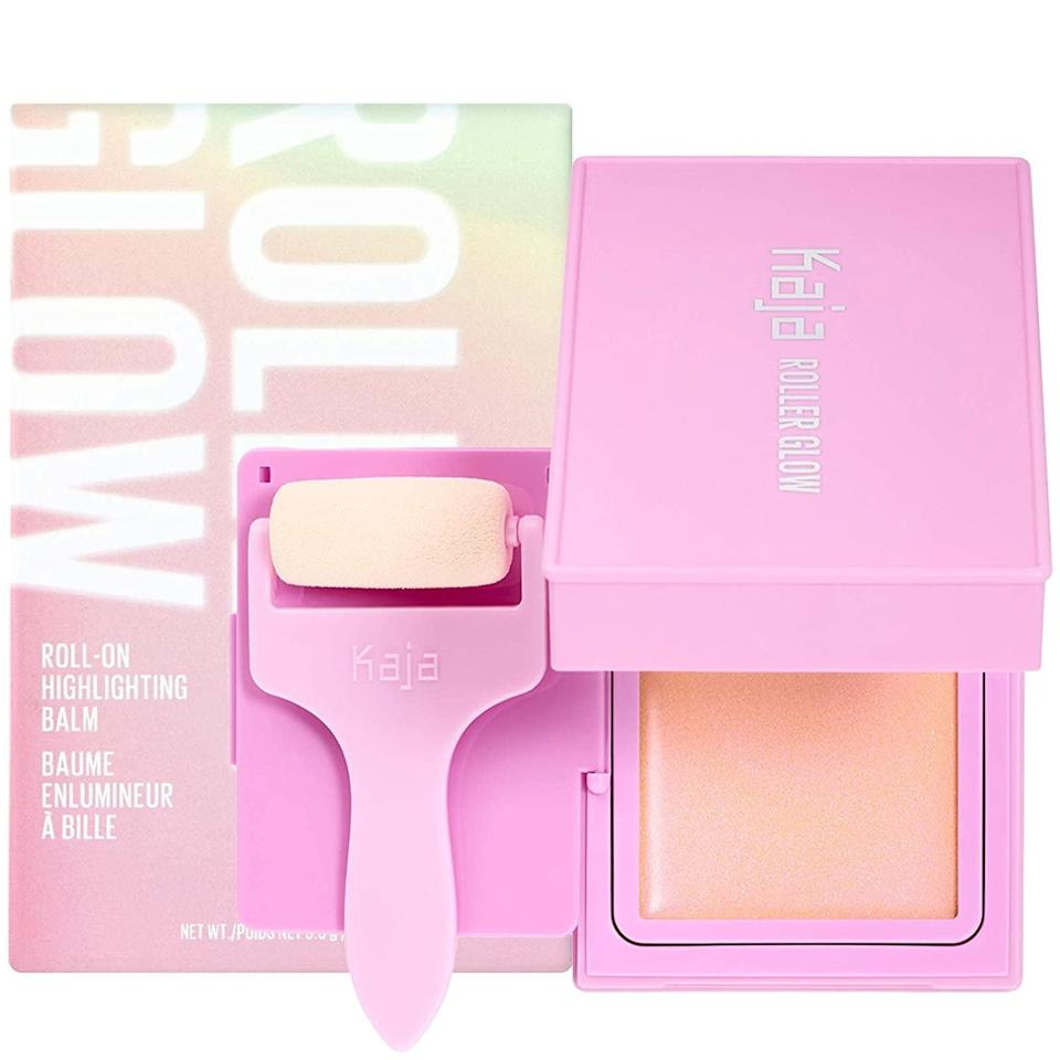 <p>The <span>Kaja Roller Glow Roll-On Highlighting Balm</span> ($15) is a gorgeous cream highlighter with a fun and playful twist. It gives a pearlescent glow with golden undertones. You use this not only on the high points of your face but also for adding dimension to your body. Just roll the sponge applicator over balm and apply wherever you want.</p>