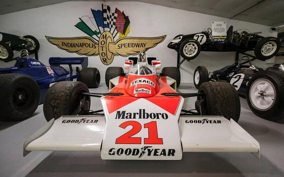 James Hunt's 1976 F1 title-winning McLaren M23 at the Donington Grand Prix collection - www.alamy.com