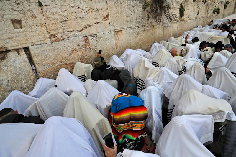 "The ""priestly blessing"" takes place twice a year at one of Judaism's holiest sites in Jerusalem"
