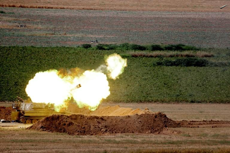 Israel forces have also shelled the Gaza Strip from the ground