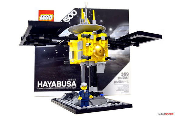 """The grand prize winner of the """"Imagine our Future Beyond Earth"""" category will receive a limited edition LEGO CUUSOO Hayabusa signed by LEGO designer Melody Louise Caddick."""
