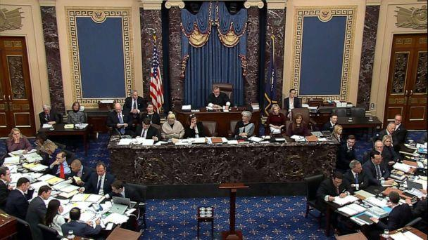 PHOTO: Senate floor during the impeachment trial of President Donald Trump, Jan. 29, 2020, in Washington, DC. (ABC News)