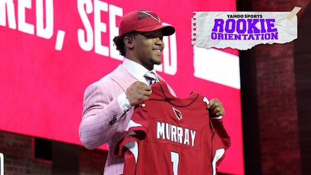 "The <a class=""link rapid-noclick-resp"" href=""/nfl/teams/arizona/"" data-ylk=""slk:Arizona Cardinals"">Arizona Cardinals</a> selected Oklahoma QB Kyler Murray despite industry worries about his diminutive size. Matt Harmon investigates the massive shift in the league that allowed a sub-six-foot QB to be selected first overall on the latest Rookie Orientation. (Photo by Michael Wade/Icon Sportswire via Getty Images)"