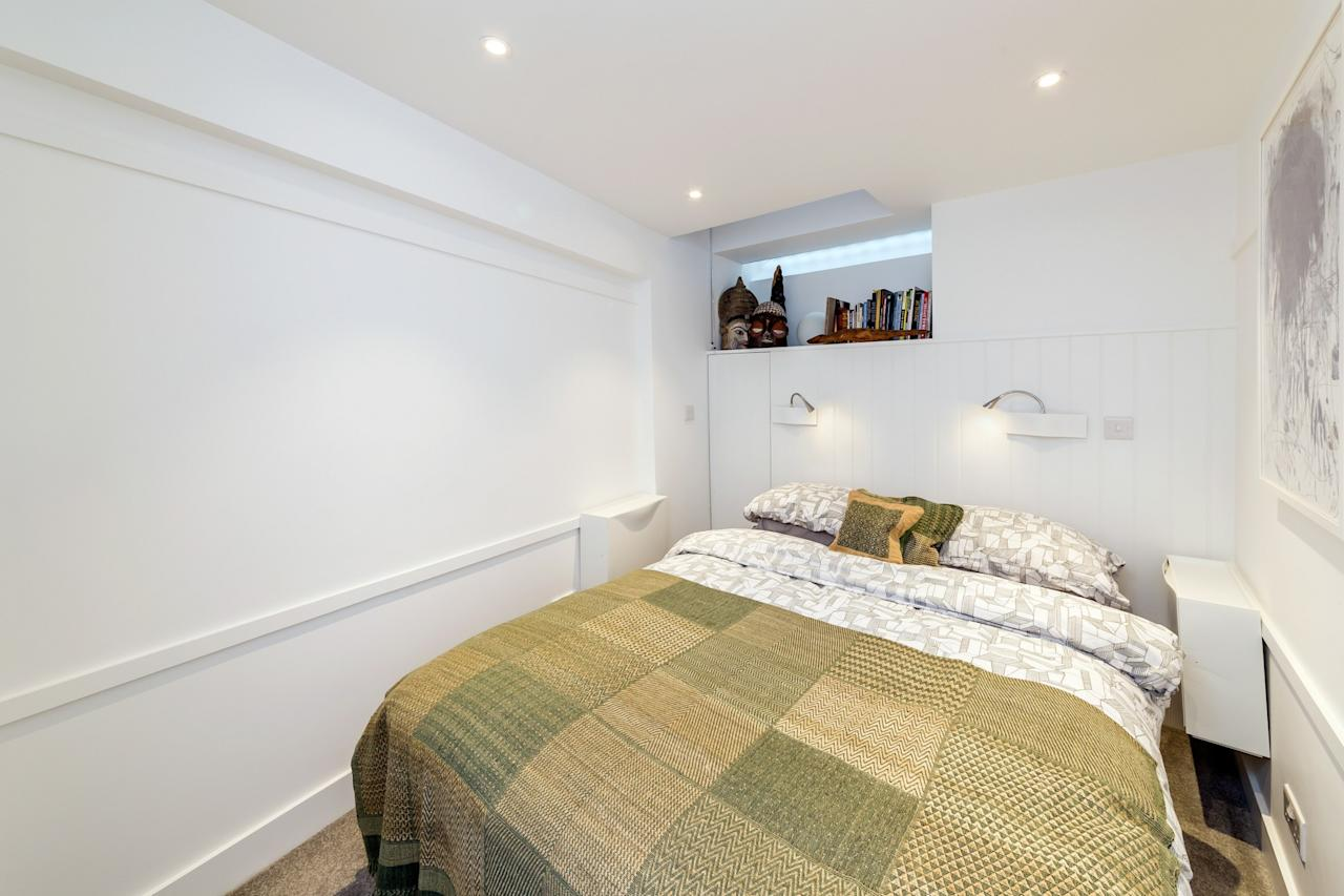 <p>The house includes two bedrooms, two bathrooms and two reception rooms, as well as a study area and a glass roof on the top floor. </p>