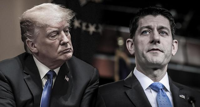 President Trump and House Speaker Paul Ryan of Wis. (Photos: Alex Wong/Getty Images; Pablo Martinez Monsivais/AP)