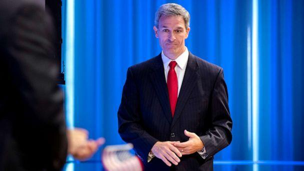 PHOTO:Acting Director of the U.S. Citizenship and Immigration Services (USCIS), Ken Cuccinelli leaves the lectern after speaking during a naturalization ceremony on July 2, 2019, in New York City. (Drew Angerer/Getty Images)