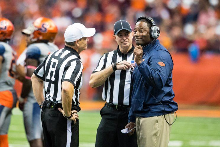 Dino Babers thinks the recruiting rules changes would only stand to benefit Syracuse. (Getty)