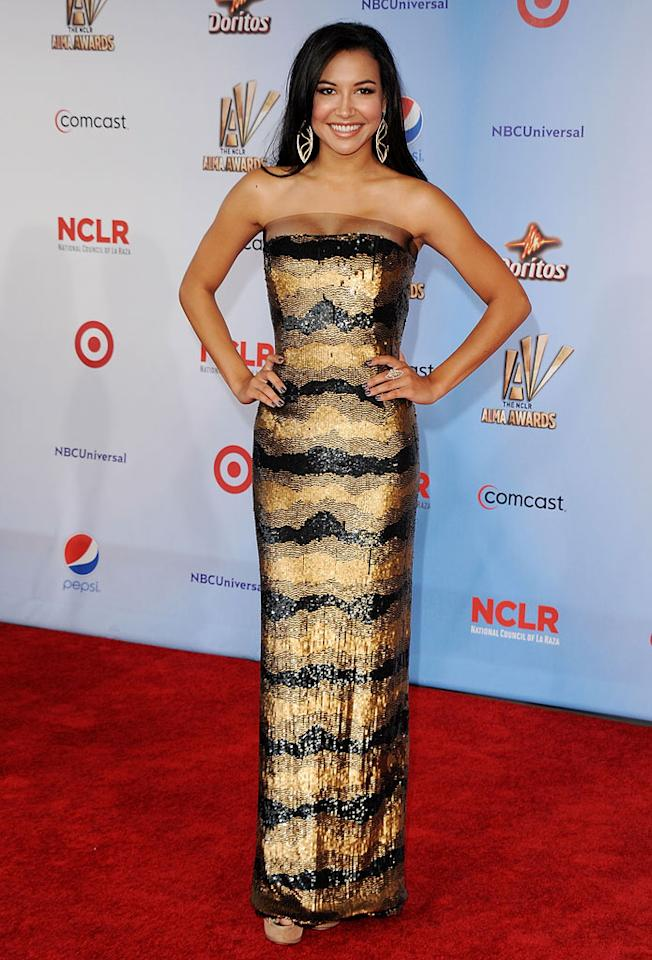 """""""Glee"""" actress Naya Rivera was honored with the Favorite TV Music Artist award ... and she was clearly flattered. """"Beyond happy about my Alma award win! Can't thank the NCLR and everyone who voted enough!! Love you all so very much,"""" the 24-year-old tweeted the next day. Jon Kopaloff/<a href=""""http://www.filmmagic.com/"""" target=""""new"""">FilmMagic.com</a> - September 10, 2011"""