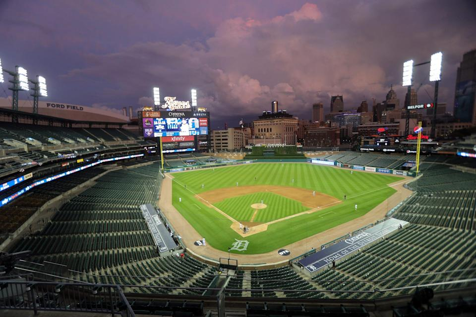 Overall during the Detroit Tigers opener against the Kansas City Royals at Comerica Park Monday, July 27, 2020.
