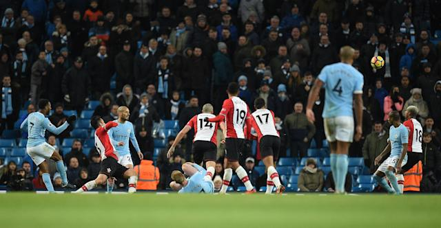 Meanwhile, there were patches of blue seats as City marched to the title