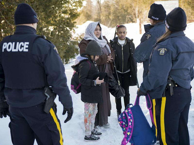 Refugees are travelling as far as Canada, risking their lives to reach safety: AP