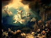 """<p>Written by the sixth <a href=""""https://www.telegraph.co.uk/culture/music/3674122/The-story-behind-the-carol-While-shepherds-watched-their-flocks-by-night.html"""" rel=""""nofollow noopener"""" target=""""_blank"""" data-ylk=""""slk:Poet Laureate Nahum Tate in the 1700s"""" class=""""link rapid-noclick-resp"""">Poet Laureate Nahum Tate in the 1700s</a> and later set to music, this classic hymn was based on Luke 2: 8-14. It talks of the shepherds who — quite literally — looked over their flocks of sheep the night Jesus was born, as """"an angel of the Lord came down and glory shone around."""" Soon, a """"throng"""" of angels gathered, all praising God and celebrating the newfound peace on Earth that the little baby Jesus ushered in.</p><p><a href=""""https://www.youtube.com/watch?v=6djjh5eGGeQ"""" rel=""""nofollow noopener"""" target=""""_blank"""" data-ylk=""""slk:See the original post on Youtube"""" class=""""link rapid-noclick-resp"""">See the original post on Youtube</a></p>"""