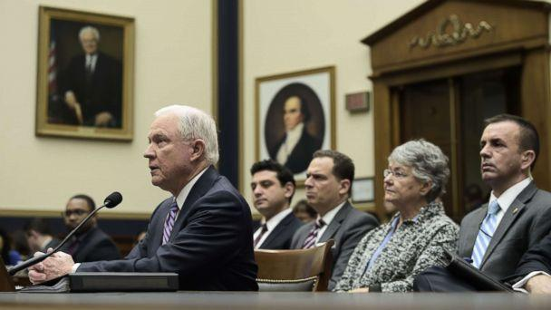 PHOTO: U.S. Attorney General Jeff Sessions testifies before a House Judiciary Committee hearing, Nov. 14, 2017, in Washington, on oversight of the U.S. Justice Department. (Brendan Smialowski/AFP/Getty Images)