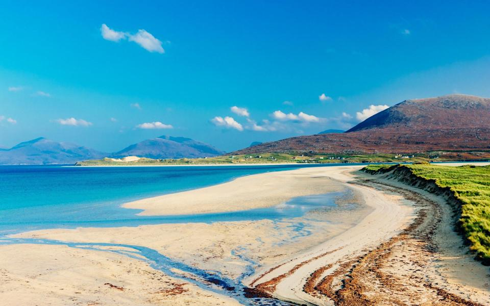 The beaches on the Outer Hebrides are tropical - Peter Burnett/Getty
