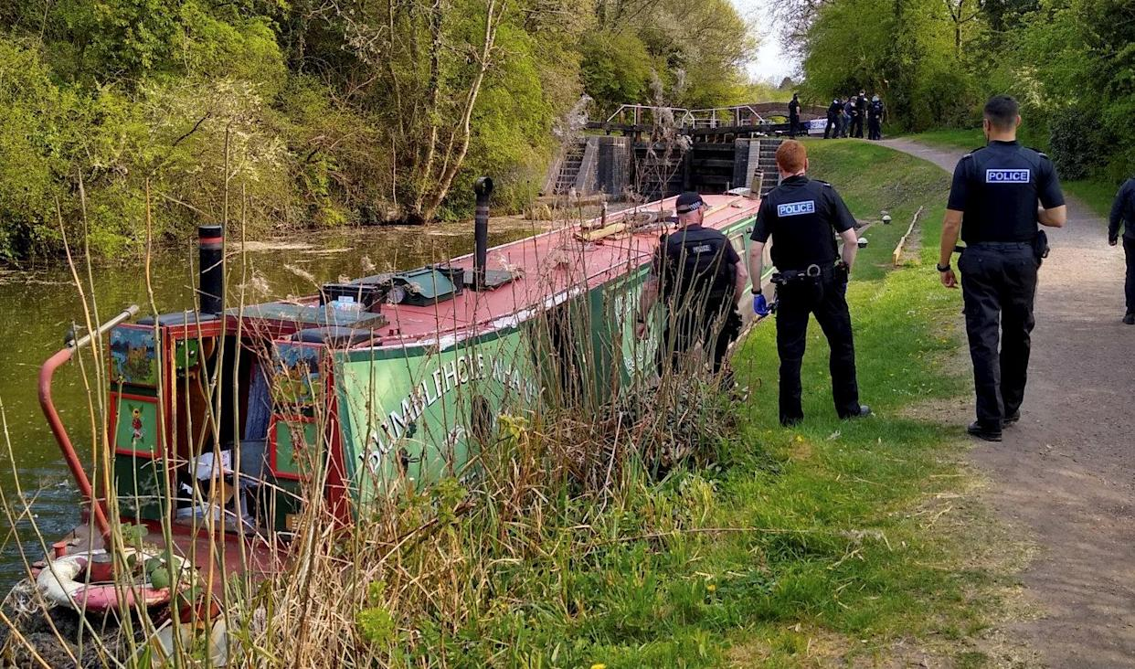 The man was arrested after a 4mph boat chase. (SWNS)