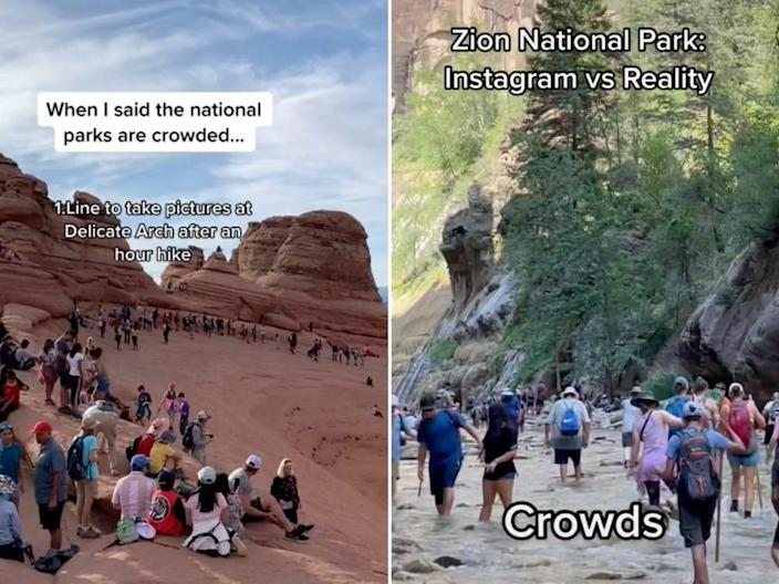 Crowds are flooding national parks such as Zion and Arches.