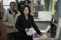 Taiwan's Tsai on course to win presidency: TV vote count