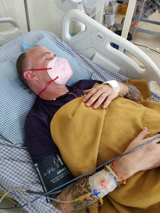 Ian Jones had been in intensive care in India but his family hope to get him home to the UK (Family Handout/PA)