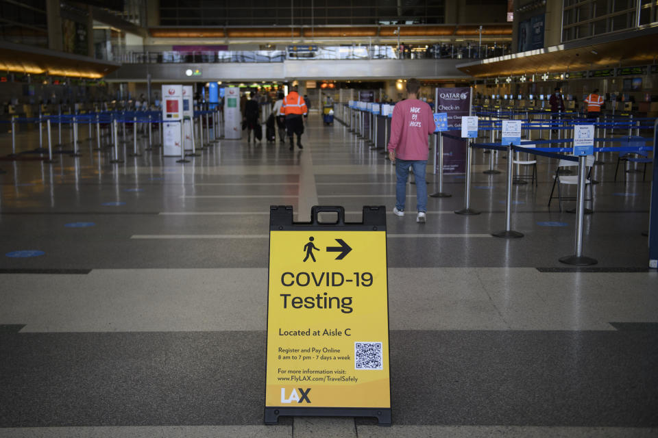 Most airports may now also have an onsite COVID-19 testing centre. Photo: Patrick T Fallon/AFP via Getty