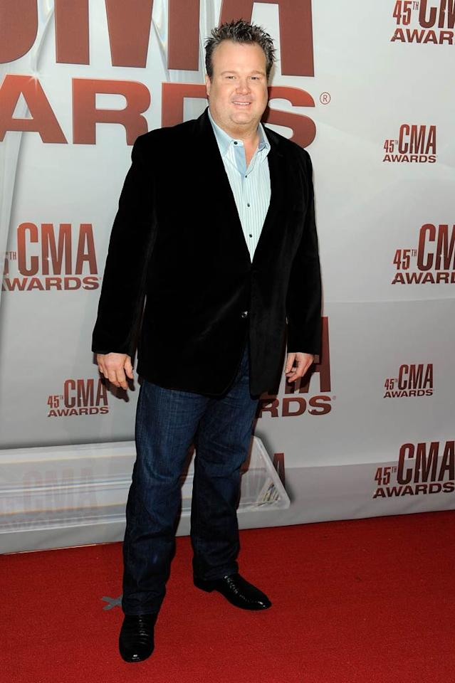 "Like Reba McEntire, ""Modern Family"" star Eric Stonestreet opted for velvet. (11/9/2011)"