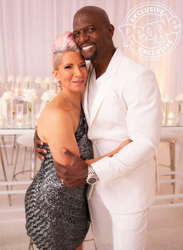 On July 27, Terry Crews and his wife Rebecca King-Crews celebrated 30 years of marriage with an over-the-top party at the Four Seasons in Beverly Hills.  Surrounded by their loved ones — and famous faces including Olivia Munn, Stevie Wonder, Chris Daughtry and more — the couple took in surprise performances and danced the night away.