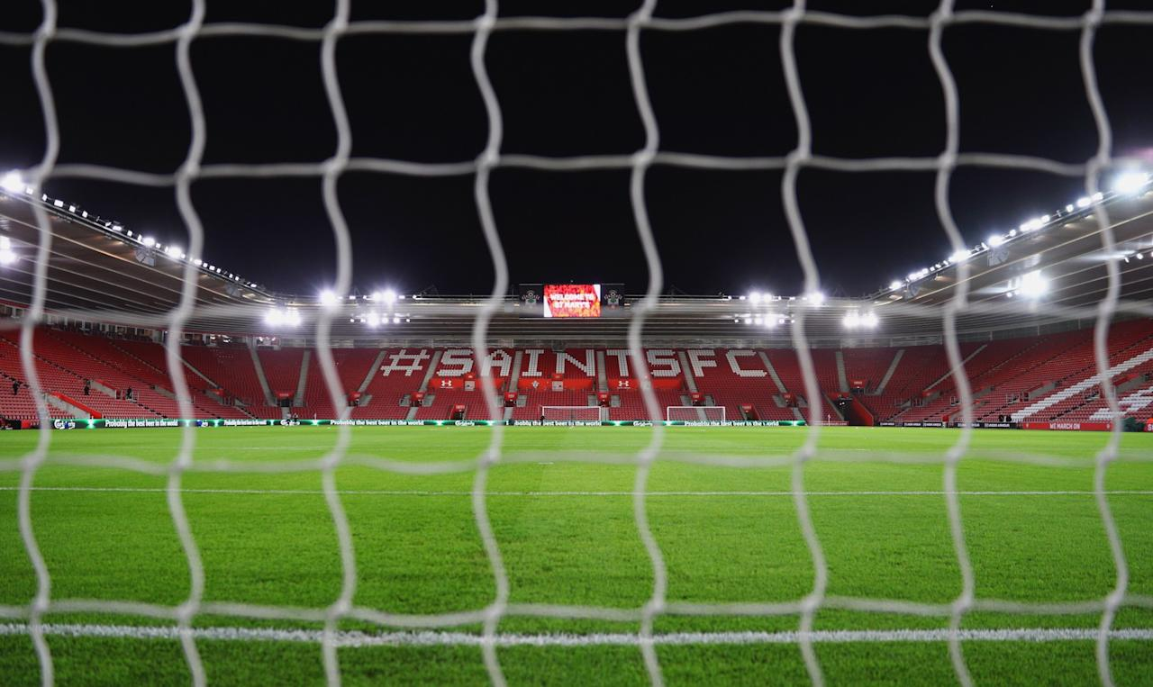 <p>St Mary's awaits the first leg of the EFL Cup semi-final between Southampton and Liverpool (Getty Images) </p>