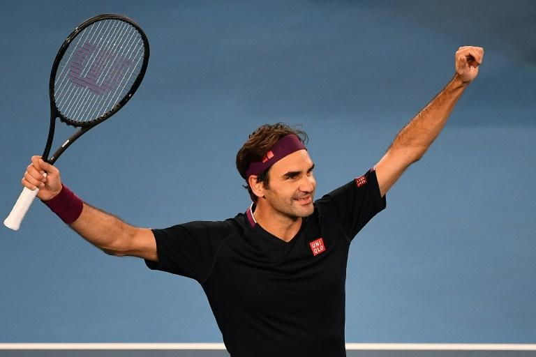 Switzerland's Roger Federer came from behind in a super tie-breaker (AFP Photo/William WEST)