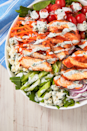 """<p>Wings but make it healthy.<br></p><p>Get the recipe from <a href=""""https://www.delish.com/cooking/recipe-ideas/a27925036/easy-buffalo-chicken-salad-recipe/"""" rel=""""nofollow noopener"""" target=""""_blank"""" data-ylk=""""slk:Delish"""" class=""""link rapid-noclick-resp"""">Delish</a>.</p>"""