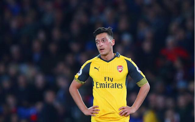 <span>Ozil has had a difficult season in Arsenal colours</span> <span>Credit:  Getty Images </span>