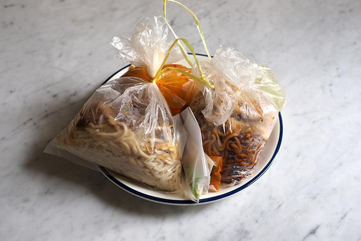 Your noodles are packed in various bags that you can easily take away to eat at the comfort of your home