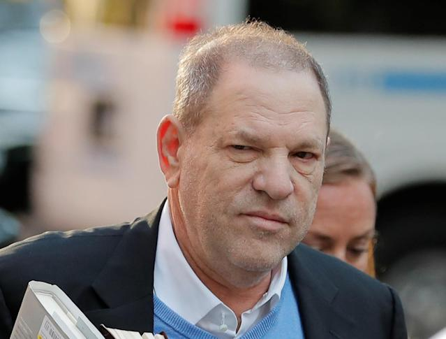 <p>Film producer Harvey Weinstein arrives at the 1st Precinct in Manhattan in New York, May 25, 2018. (Photo: Lucas Jackson/Reuters) </p>