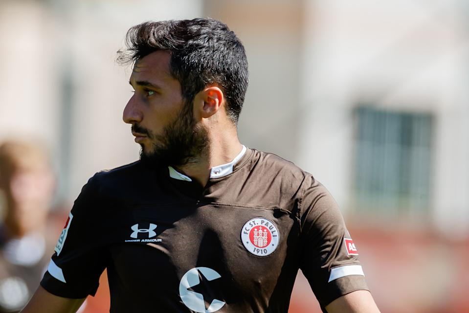 St. Pauli released Cenk Sahin after a post in support of Turkey's invasion of Syria. (Photo by TF-Images/Getty Images)