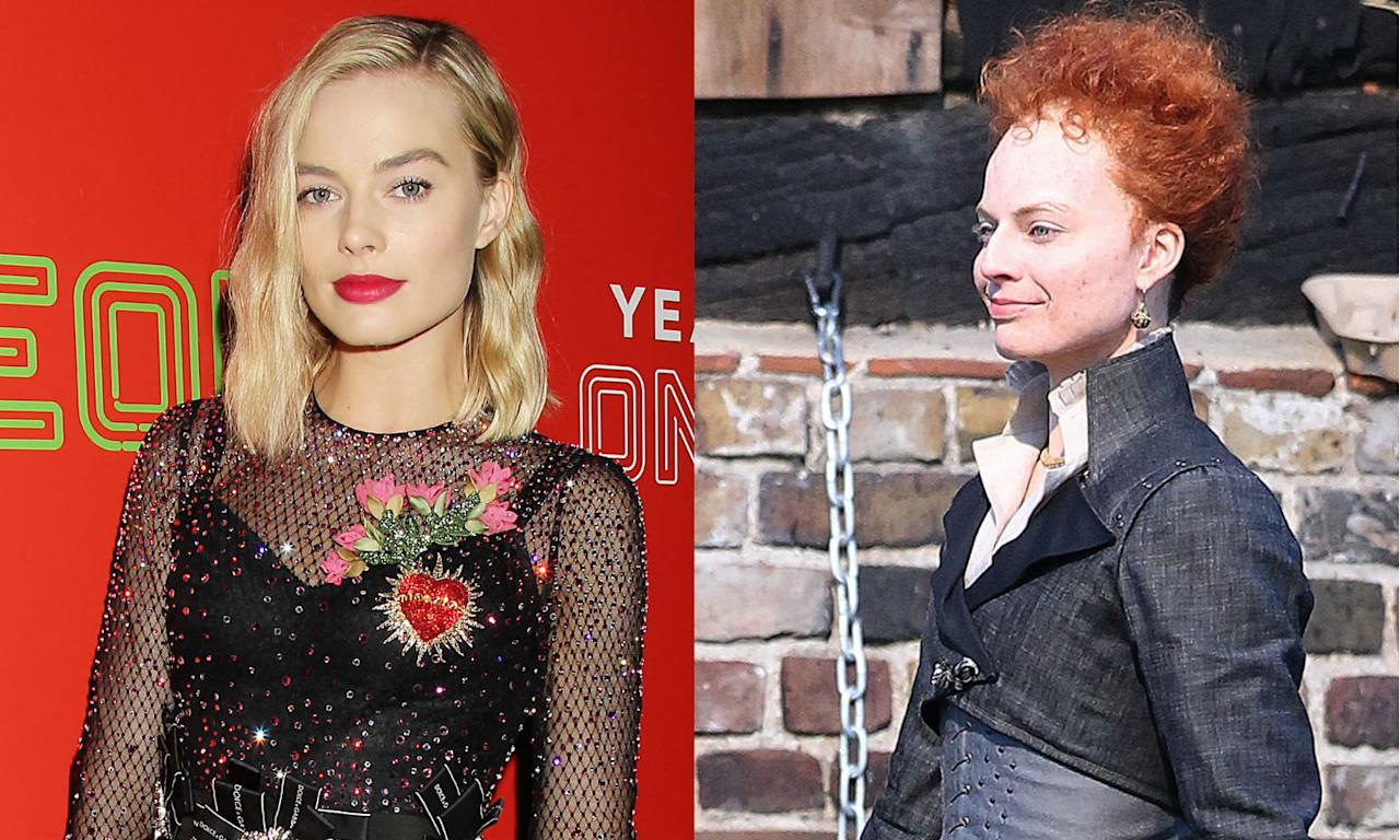 "<p>Margot Robbie becomes Queen Elizabeth I for <a rel=""nofollow"" href=""https://uk.movies.yahoo.com/margot-robbie-unrecognisable-transforms-elizabeth-071509742.html""><em>Mary Queen of Scots</em></a>. </p>"