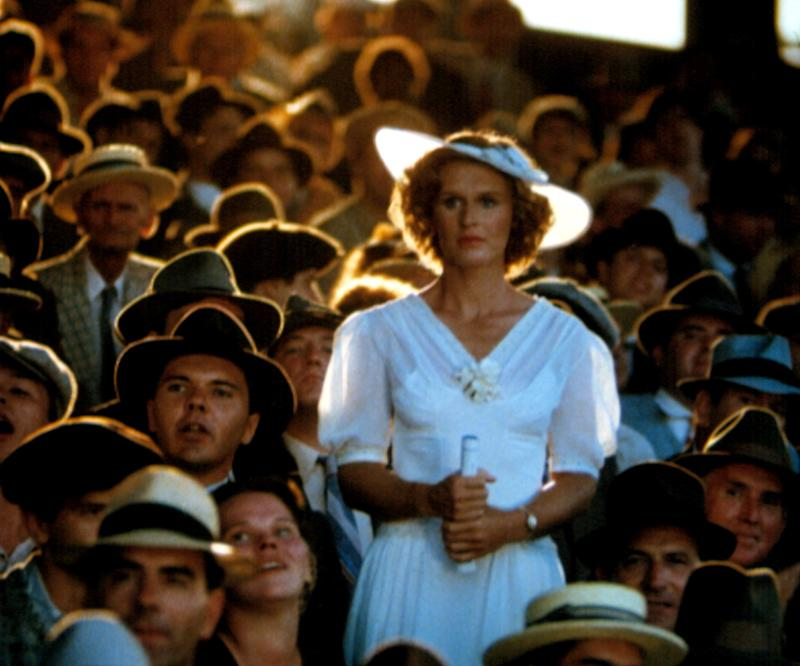 Glenn Close is lit like an angel in this scene from 'The Natural' (Photo: Courtesy Everett Collection)