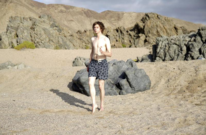 """This undated publicity photo released by the Sundance Institute shows Michael Cera in a scene from the film, """"Crystal Fairy,"""" included in the World Cinema Dramatic Competition at the 2013 Sundance Film Festival. (AP Photo/Sundance Institute, Sofa Subercaseaux)"""