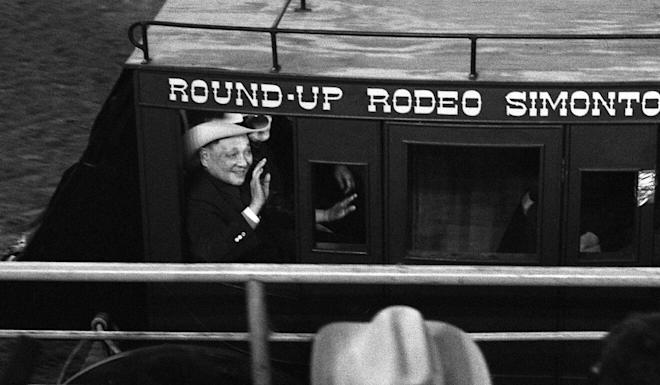 Deng Xiaoping at a rodeo in Texas during his 1979 visit to the United States. Photo: VCG