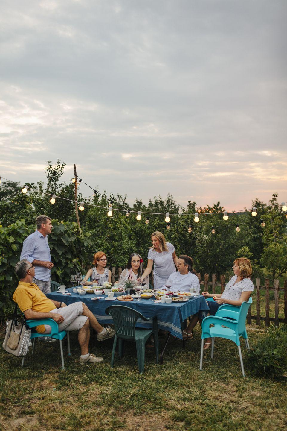 "<p>What better way to celebrate turning 50 than with an al fresco dinner party? Some tasty bites, a few string lights, and your closest friends and family are all you'll need to put together the perfect evening. </p><p><a class=""link rapid-noclick-resp"" href=""https://go.redirectingat.com?id=74968X1596630&url=https%3A%2F%2Fwww.walmart.com%2Fip%2FBetter-Homes-Gardens-Solar-Powered-15-Count-Edison-Bulb-Warm-White-LED-String-Lights-Black-Wire%2F639808173&sref=https%3A%2F%2Fwww.thepioneerwoman.com%2Fhome-lifestyle%2Fentertaining%2Fg34192298%2F50th-birthday-party-ideas%2F"" rel=""nofollow noopener"" target=""_blank"" data-ylk=""slk:SHOP STRING LIGHTS"">SHOP STRING LIGHTS </a></p>"
