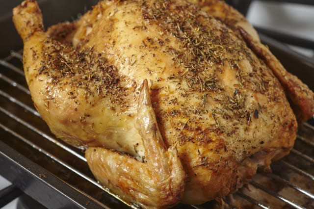 Home made whole roast chicken