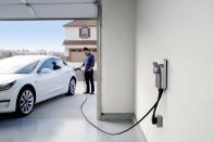 A ChargePoint charging location is seen in this undated handout photo
