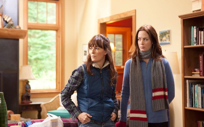 """This film image released by IFC Films shows Rosemarie DeWitt, left, and Emily Blunt in a scene from """"Your Sister's Sister."""" (AP Photo/IFC Films, Tadd Sackville-West)"""