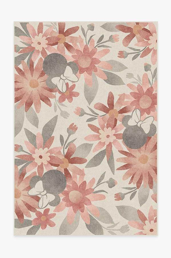 Here, the Minnie Floral Rosewood rug for some whimsy.
